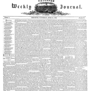 Chicopee Weekly Journal, June 11, 1853