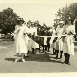 Girls leading the procession