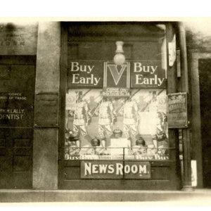 Buckley's Newsroom window display