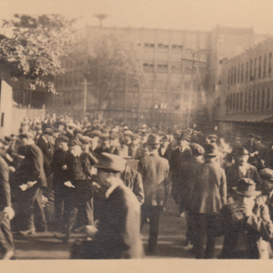Crowd at Fisk plant