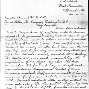 Nellie Tracy's Letter to Hon. S.W. McCall