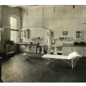 Private emergency hospital at the Chicopee Falls plant
