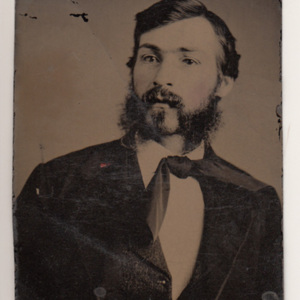 Tintype image of Charles H. Tracy