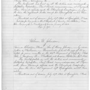 Wilmer W. Johnson, Civil War Soldier