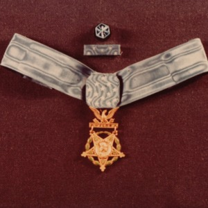Replica of Charles H. Tracy's Medal of Honor