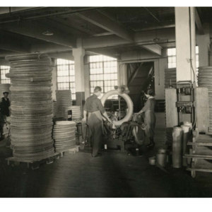 Wrapping tires for delivery to customers