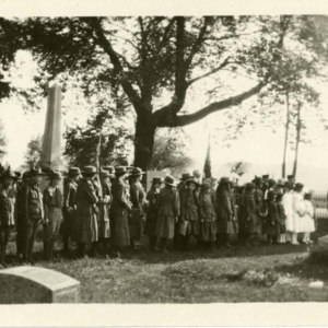 Boy scouts at Maple Grove Cemetery