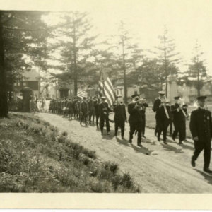 Procession entering Calvary Cemetery
