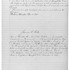 James O. Cole, Civil War Soldier