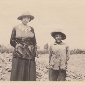 Miss Driscoll and a gardener of Willimansett