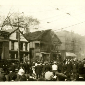 Fire in one of the oldest buildings in Chicopee Falls, May 7, 1921