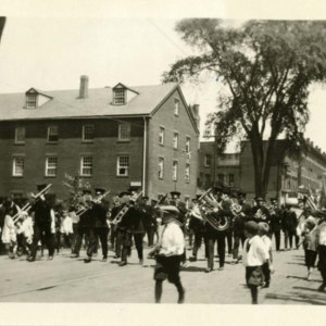 Head of procession on Exchange Street