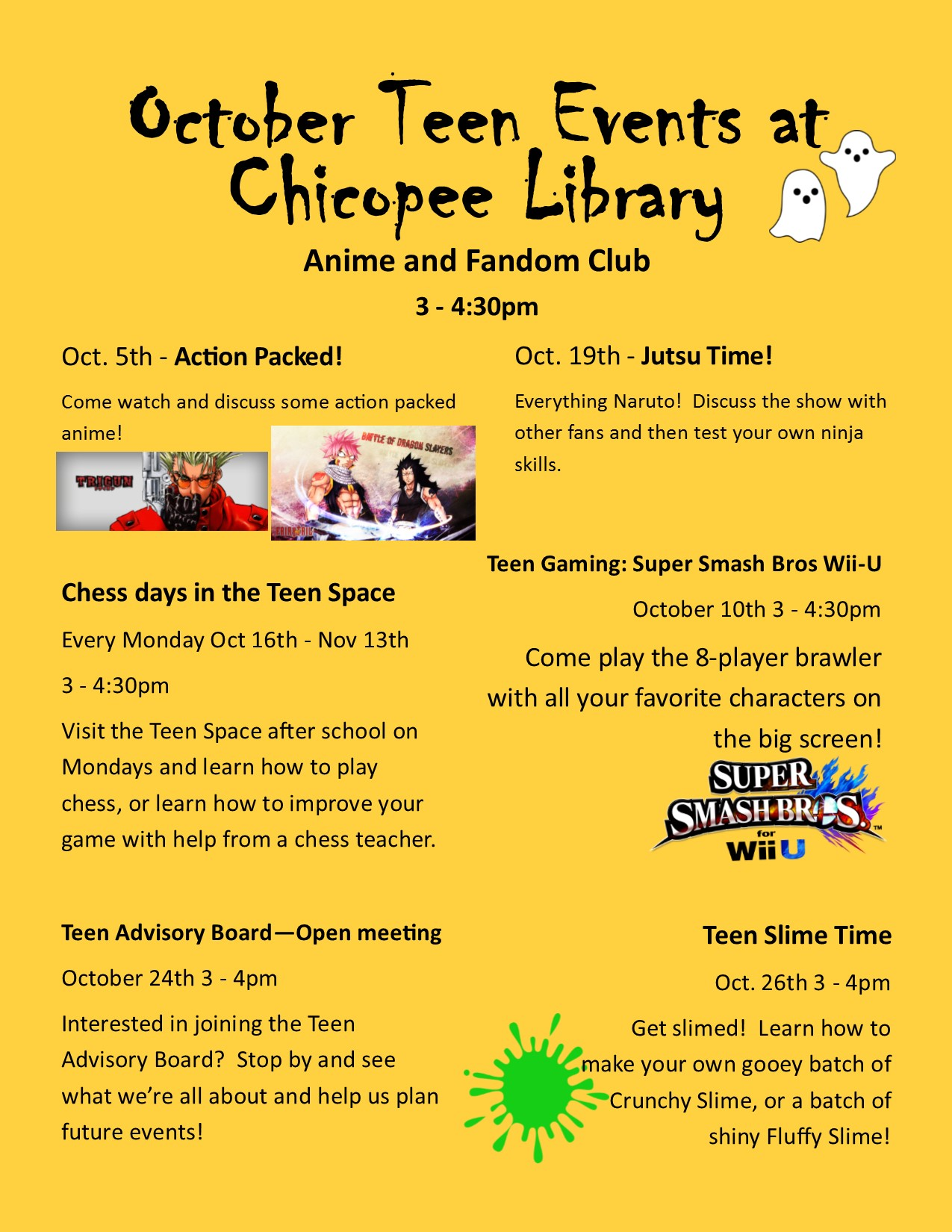Chicopee Public Library Teen Space